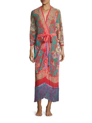 Fuchsia Long Caftan
