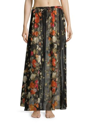 Farfalla Printed Coverup Skirt by Fuzzi Swim