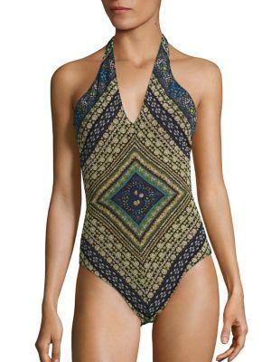 Jewelry Printed One-Piece Swimsuit by Fuzzi Swim