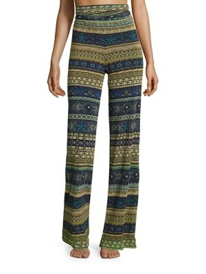 Jewelry Printed Cover Up Pants by Fuzzi Swim