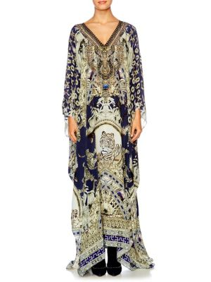 camilla female chinese whispers silk caftan