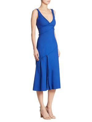 Demania Virgin Wool Blend Cutout Dress by BOSS