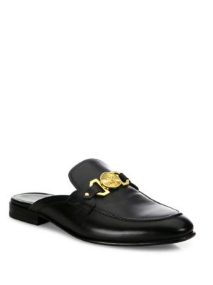 Leather Open Back Loafers
