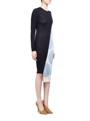 Oversized Dot Midi Dress