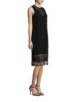 Lace Fringe Hem Dress