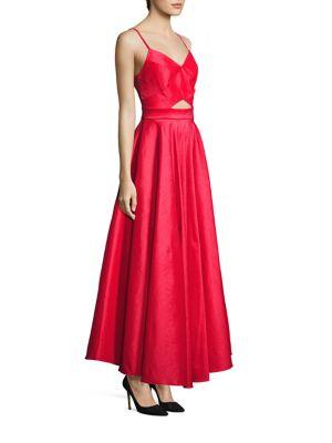 Taffeta Cutout Gown