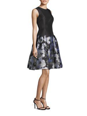 Drop-Waist Floral-Print Dress