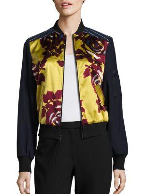 Harper Bomber Silk Jacket