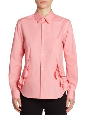 Ruffle Button Front Shirt by Comme Comme