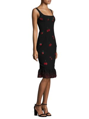 Fria Cherry Embellished Dress
