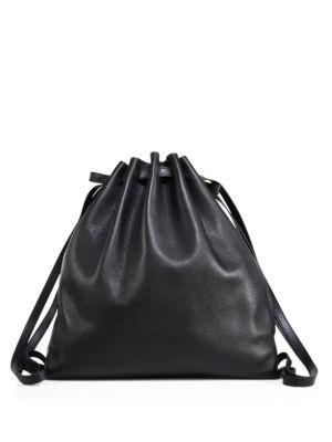 Pebbled Leather Gym Bag