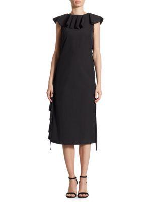 Ruffle Poplin Dress