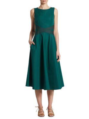 Crisscross Poplin Dress