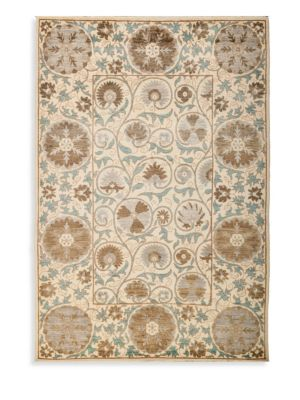 Suzani Floral Wool Rug