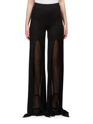 Front-Slit Flared Pants