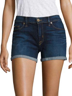 Mid Rise Cuffed Shorts