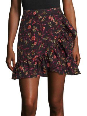 Faux Wrap Ruffle Mini Skirt