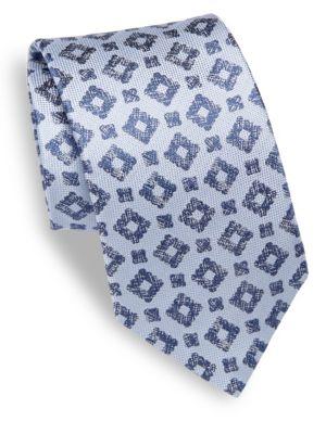 Geometrical Patterned Silk Tie