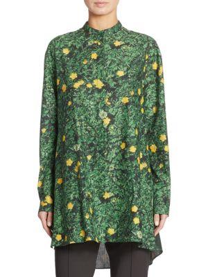 Buttercup-Print Cotton Tunic by Akris