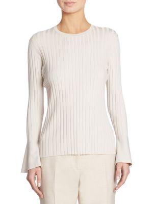 Cashmere & Silk Bell Sleeve Top