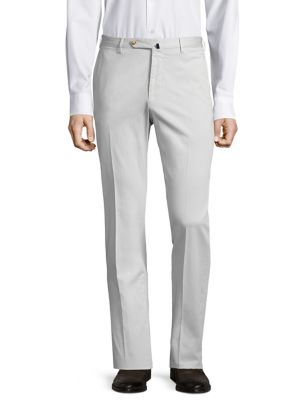 Slim-Fit Linen-Blend Pants