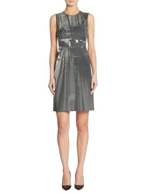Camera-Print Sheath Dress