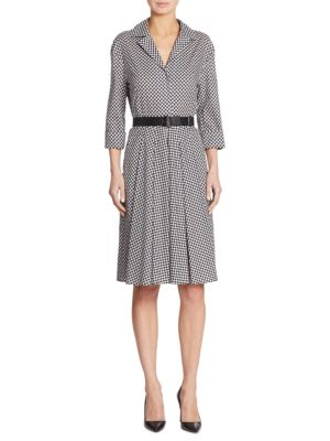 Belted Check-Print Cotton Shirtdress