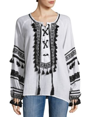 Malka Lace-Up Top