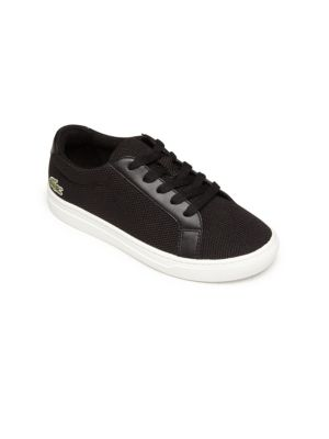 Kid's Leather-Trim Sneakers