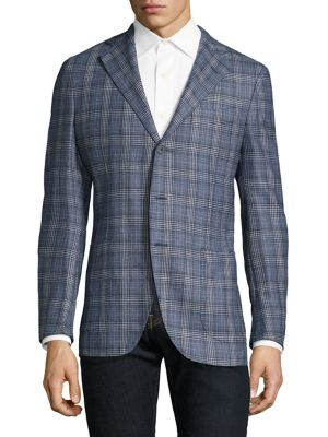Slim-Fit Glen Plaid Wool Mélange Sportcoat