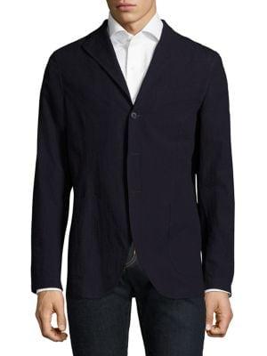 Slim-Fit Wool Seersucker Sportcoat