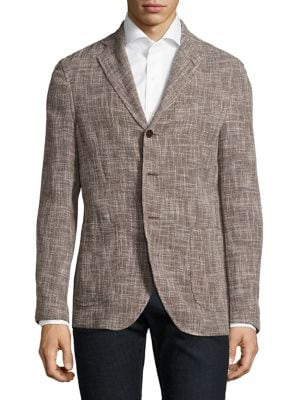 Slim-Fit Slub Basketweave Wool Unconstructed Sportcoat