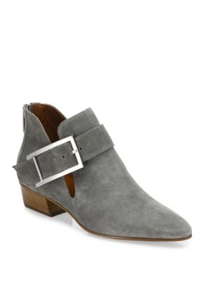 Filomena Buckle Suede Booties