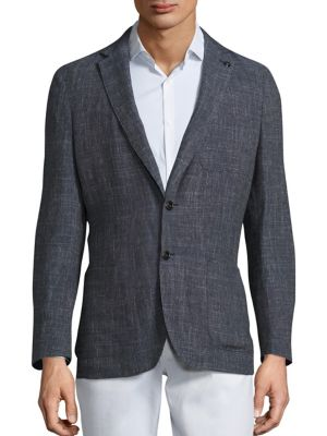 michael kors male textured blazer