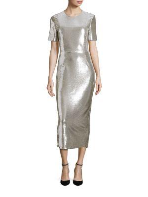 Metallic Sequin Bodycon Dress