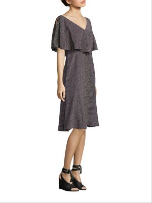 Dash Print Handkerchief Silk Dress