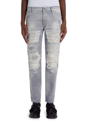 Greg Straight-Fit Biker Jeans
