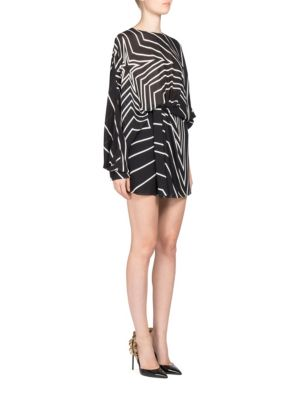 Geometric Print Asymmetrical Dress