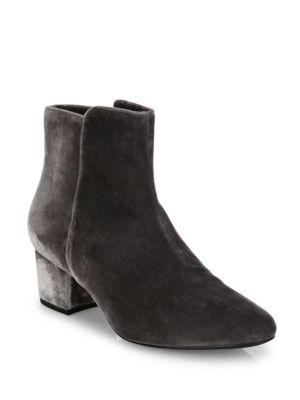 Fenellie Velvet Block Heel Booties