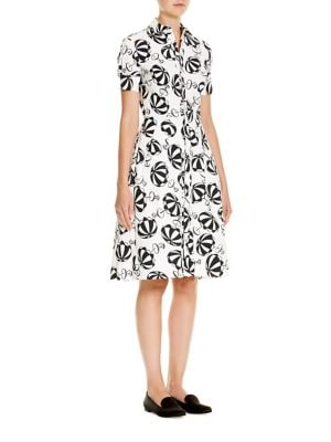 Café Umbrella-Print Shirtdress