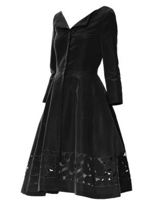 Cutout Silk Faille Dress