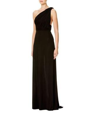 Silk Jersey One-Shoulder Gown by Carolina Herrera