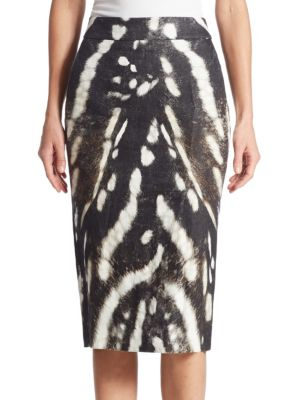 Ghetta Printed Pencil Skirt