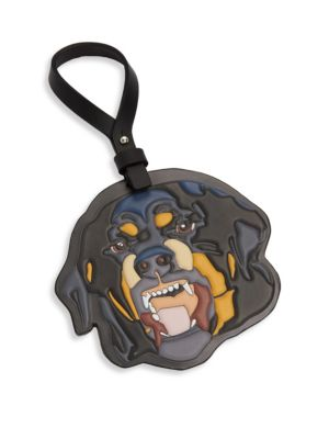 Rottweiler Leather Keychain
