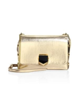 Lockett City Metallic Leather Shoulder Bag