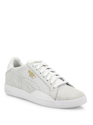 Match Select Premium Snakeskin-Embossed Suede Sneakers 0400093482170