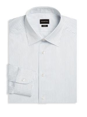Slim-Fit Trofeo Pinstripe Dress Shirt