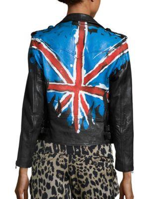 Boxy Tag Lamb Leather Jacket