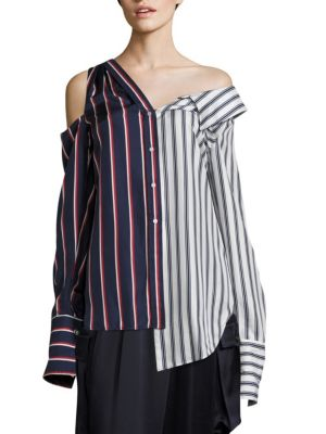 Asymmetric Striped Top