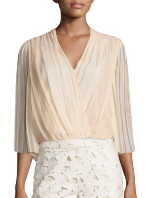 Axel Cross Front Silk Top by Alice + Olivia